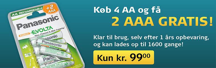 Køb 4 AA og få 2 AAA Gratis!