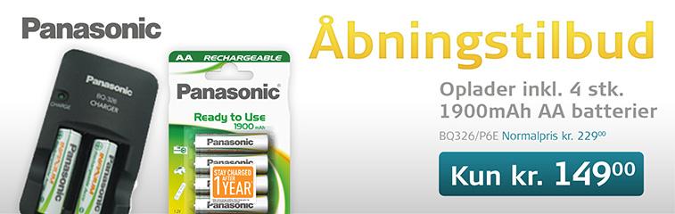 Køb Oplader inkl. 4 stk. AA batterier