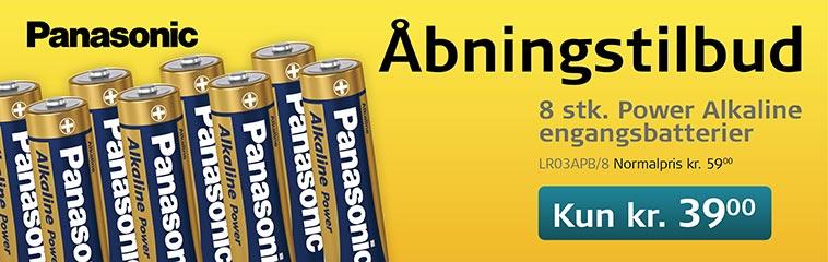 Åbningstilbud AAA Alkaline batterier