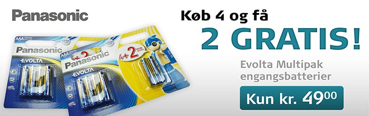 Køb 4 batterier og få 2 gratis - batterier.dk