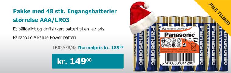 48 stk. batterier tilbud
