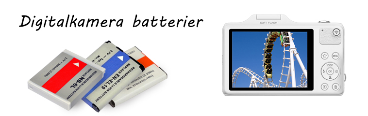 Digitalkamera batterier
