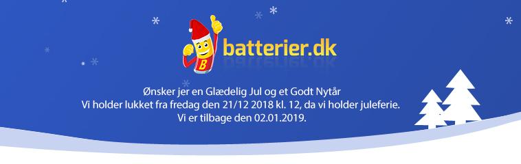 batterier.dk holder julelukket
