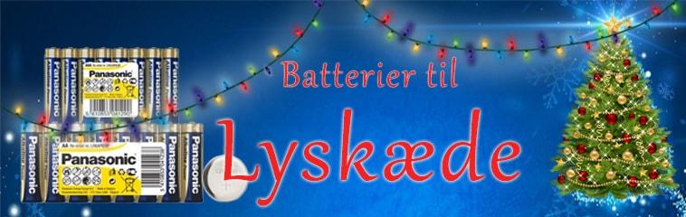Lyskæde batterier