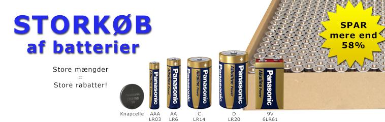 Storkøb af batterier