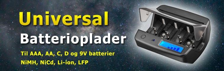 Universal batterioplader