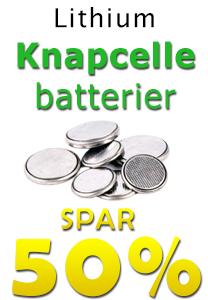 Lithium Knapcelle batterier