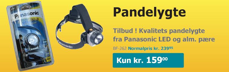 Tilbud på kvalitets pandelygte fra Panasonic